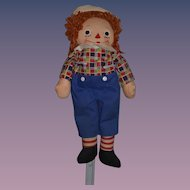 Old Doll Raggedy Andy Johnny Gruelle's Own Georgene Novelties: Cloth Doll: Rag Doll: Tagged: