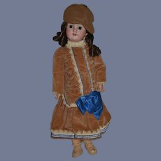 """Antique Doll Bisque Character MAO Sweet Girl 21"""" Tall"""