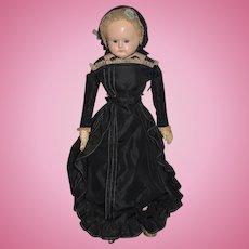 Antique Doll Papier Mache Antique Clothing Wonderful Face Glass Eyes