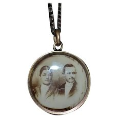 Old Photograph Necklace For Doll Miniature Sweet