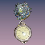Old Miniature Watch Fob Brooch For Doll