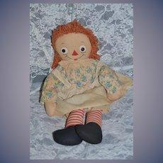 Old Raggedy Ann Cloth Doll Rag Doll Gruelle's Own