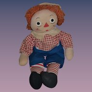 Vintage Raggedy Andy Cloth Doll Rag Doll