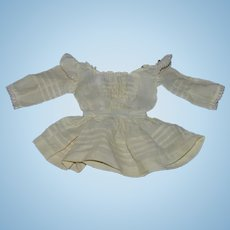 Old Doll Dress Cotton Lace Drop Waist Fancy!