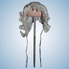 Wonderful Lace Trim Threaded Satin Ribbon Doll Bonnet Hat