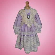 Vintage Doll Dress Lace Fancy Cameo Gorgeous
