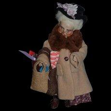 Vintage Doll Artist Faith Wick Original  Porcelain Character Original Tag