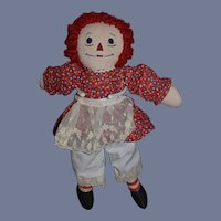 Unusual Raggedy Ann Doll Cloth Doll Wonderful Size