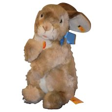 Wonderful Steiff Rabbit Putsi W/ Button Tag and Booklet and Name tag Large