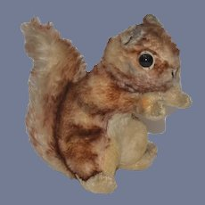 Old Steiff Mohair Squirrel Big Eyes Large Button in Ear