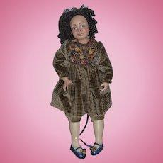 Artist Doll Black Doll Joanne Gelin Signed Sweet Girl