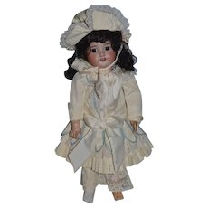 Antique Doll Bisque Head French Doll Dressed Blue Stamp Composition Body SFBJ