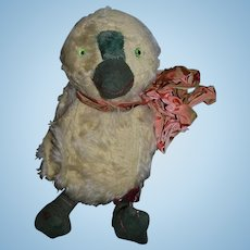 Old Stuffed Animal Doll Friend Mohair Chick Bird Glass Eyes