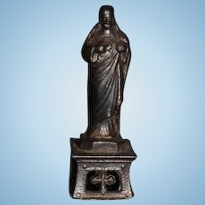 Old Doll Miniature Statue Dollhouse Religious Jesus Statue Figurine Metal