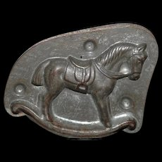 Antique Rocking Horse Old Tin Mold Chocolate