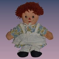 Old Doll Cloth Doll Raggedy Ann Two Face Doll Awake Asleep