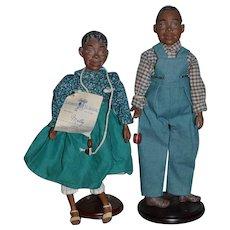 Wonderful Artist Doll Set Black Dolls Daddy Long Legs Signed