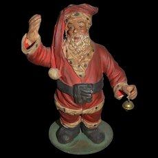 Wonderful Old Papier Mache Santa Claus Figurine Doll Italian
