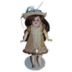 Antique Doll Petite Bisque Composition Jointed Body Wonderful French Market Kammer & Reinhardt Simon & Halbig Barefoot