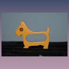 Old Dog Bakelite Scottie Dog Napkin Ring