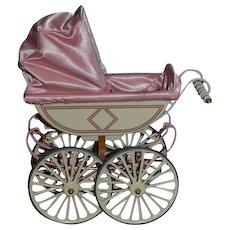 Vintage Marklin Doll Pram Carriage Buggy Sweet Metal
