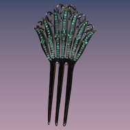 Old Fancy Doll Hair Comb W/ Stones
