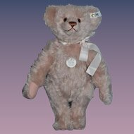 Wonderful Steiff Teddy Bear Jointed Light Pink Mohair Button Tag 1987