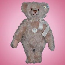 Wonderful Steiff Teddy Bear Jointed Light Pink Mohair Button Tag 1987