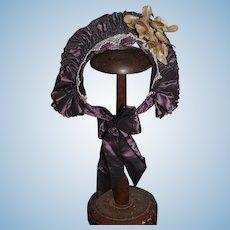 Wonderful Doll Hat Bonnet Fancy Artist Made