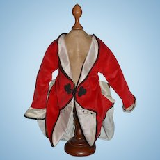 Vintage Doll Artist Made Fancy Jacket Coat For French Doll