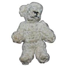 Miniature Teddy Bear Doll Friend Artist Made for Dollhouse Crochet