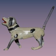 Old Dog Metal W/ Spring Tail Miniature Dollhouse Doll Friend