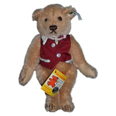 Vintage Steiff Bear Mohair Limited Edition Suzanne Gibson & Signed Button Tag
