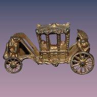 Wonderful Old Miniature Metal Fancy Cinderella Carriage Dollhouse