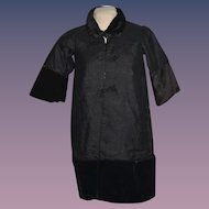 Antique Doll Silk Velvet Coat Jacket Wonderful