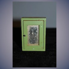 Old Wood Miniature Medicine Cabinet Bathroom Cabinet for Doll or Dollhouse W/ Mirror and Shelves