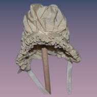 Wonderful Wire Framed Doll Bonnet Hat