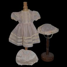 Vintage Doll Dress Hat Bonnet Bloomers Tagged Dress Kelly Madame Alexander Set