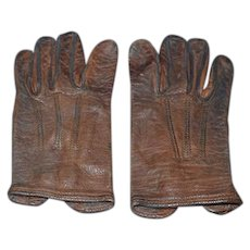Old Leather Doll Child Teddy Bear Gloves Sweet