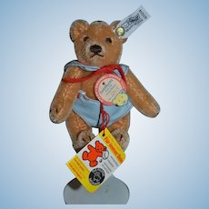 Vintage Teddy Bear Steiff Goldilocks Bear Jointed Mohair Button Tag String Tag No. 2304