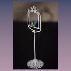 Miniature Doll Bird on a Bird Stand w/ Swing Dollhouse