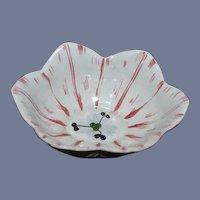 Old Mottahedeh Bowl w/ Original Tag Flower Shaped Bowl Miniature