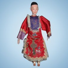 Wonderful Old Oriental Doll Opera Doll In Original Outfit