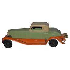 Old Pressed Steel Marx Electric Light Wind Up Car  Girard