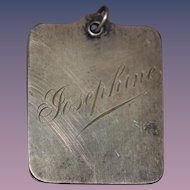 """Old Doll Sterling Miniature Note Pad """"Josephine"""" engraved Hang on Chatelaine"""