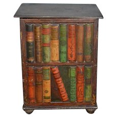 Old Tin Books and Book Case Book Shelf Huntley & Palmers Biscuit Tin Miniature Doll Display English RARE
