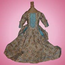 Wonderful Artist Hand Made Doll Dress Gorgeous W/ Hand Sewn Beads