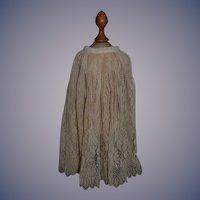 Wonderful Old Lace Undergarment Skirt Fashion Doll