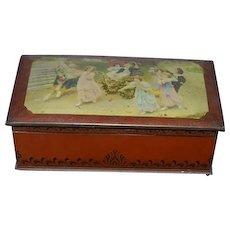 Old McVITIE & PRICE Edinburgh Biscuit Tin Victorian Children Great Doll Trunk
