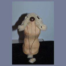 Old Doll Fashion Doll Fur Stole W/ hanging Fur Balls on Cord